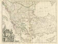 """Turquie d'Europe"". Greece Balkans Anatolia. SANTINI / JANVIER 1784 old map"