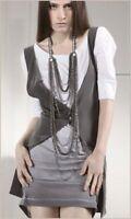 Superbe robe 2 pièces gilet COP COPINE Orlandi blanc gris taille 1 voir 36 38