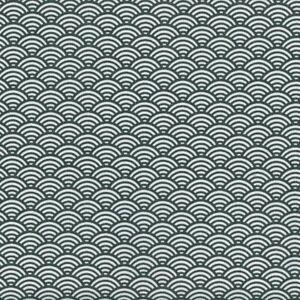 Textiles français Japanese Scales fabric Anthracite 100% Cotton 160 cm wide