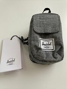 New Herschel Designer Shoulder Mini Pack Daily Travel Pouch Bag Sack Gray