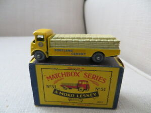 MATCHBOX A MOKO LESNEY, ALBION CHIEFTAIN PORTLAND CEMENT #51, 1958, EXCELLENT