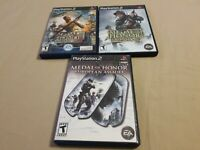 Lot of 3 PS2 Medal of Honor: Rising Sun, Frontline, European Assault Tested