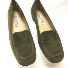 Saks Fifth Avenue Folio Collection Womens Green Suede Loafers 9B
