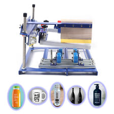 Qmh170 Type/A Grade Simple Curved Screen Printing Machine Mugs Cups Printing Us
