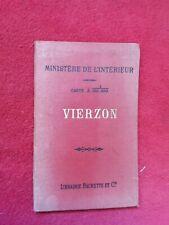 Carte/plan ancien VIERZON/Hachette 1900