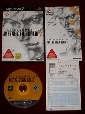 *Complete* PS2 THE DOCUMENT OF METAL GEAR SOLID 2 NTSC-J Japan Import