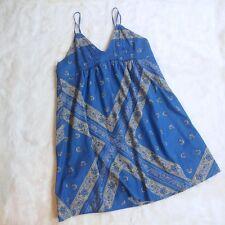 Converse One Star Blue Bandana Print Dress Size XL Lined Cotton Sundress