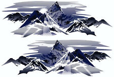 2 RV TRAILER CAMPER MOUNTAIN SCENE DECALS GRAPHICS -630-5