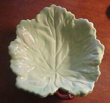 Light Green Ceramic Leaf Carlton Ware Twig Handled dish/bowl EXC!
