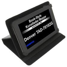 Tasche für Denver TAD-70102G Book-Style Tablet Schutz Hülle Case Stand Schwarz