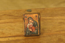 Icon of Holy Mary Theotokos, Greek Russian Christian Orthodox, Made of Wood