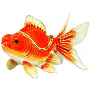 Goldfish Jewelled Trinket Box or Figurine