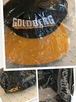 New MINT Vtg 90's WCW nWo Bill Goldberg Snapback Black Gold Ball Cap Hat SEALED