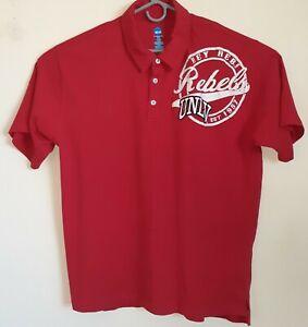 "NCAA UNLV Red & White Short Sleeve ""Hey Reb"" Rebels Logo Men's 2XL T-Shirt"