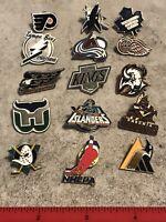 Vintage NHL Hockey Pin Lot Islanders Kings Maple Leafs Mighty Ducks Coyotes Etc
