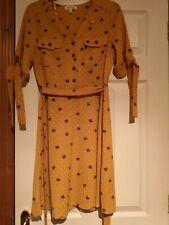 Monteau Women's Mustard Fox Print Dress