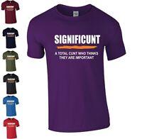 Mens SIGNIFICUNT Adults T Shirt Top Funny Rude Sarcastic Joke Novelty S - 2XL