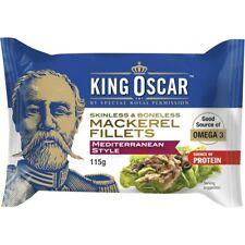 King Oscar Skinless & Boneless Mackerel Fillets Mediterranean Style 115g