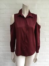 Jessica K for depechemode coutout burgundy Blouse Shirt Size 38 S SMALL