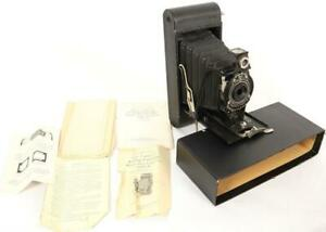 Vintage No. 2A Hawk-Eye Model B Folding Cartridge Camera Original Case & Papers