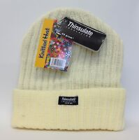 Womens Ladies Girls Thermal Thinsulate Knitted Hat Beanie Ski Hats One Size New
