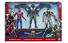 """SPIDER-MAN, VULTURE & IRON MAN ( 6"""") MARVEL 2017 HOMECOMING MOVIE ACTION FIGURES"""