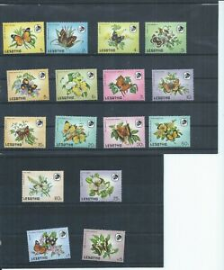 Lesotho stamps 1984 Butterflies MH SG 563 - 578 (N407)