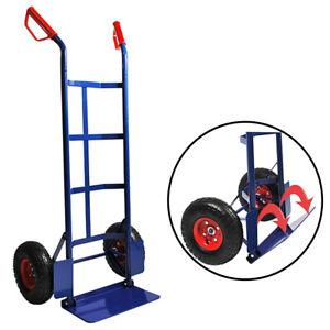 Sackkarre klappbar Transportkarre Stapelkarre Karre Transport 200 kg Blau