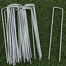 More details for 100 x metal ground garden landscape weed membrane fabric turf hooks pegs staples