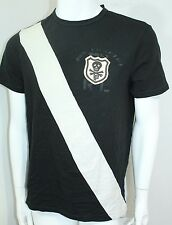 Polo Ralph Lauren Skull Stitched Banner-Stripe Jersey T-Shirt, Black,Small NWT