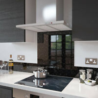 Premier Range Black Cosmos Glass Splashback - 70cm Wide x 70cm High
