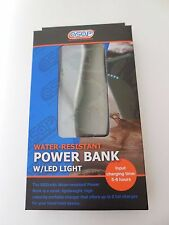 """NEW """"asap"""" WATER-RESISTANT POWER BANK W/ LED LIGHT"""