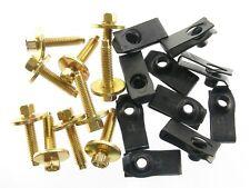 Body Bolts & U-nut Clips- M6-1.0 x 28mm Long- 8mm Hex- 20 pcs (10ea)- LD#139