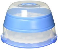 Cupcake and Cake Carrier Prepworks by Progressive Collapsible holder 3tier Blue