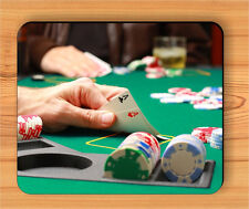 POKER PAIR OF ACE GAME MOUSE PAD -hjg2Z