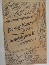 Combo Banda partes Trompeta Madison / una Balada Para Ti