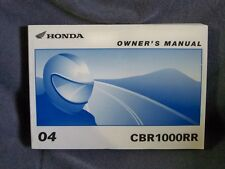 Honda CBR1000RR Factory Owners Manuals CBR 1000 RR Original 04 +++ Mint