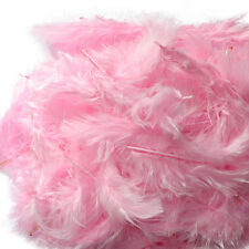 200 X FLUFFY MARABOU FEATHERS CARD MAKING EMBELLISHMENTS IN CHOICE OF COLOUR
