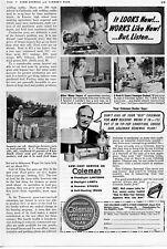1942 Coleman Iron Lamp & Stove Renewal Plan Print Ad