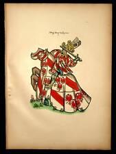 DAVID DE BRIMEU Heraldique armoiries equestre