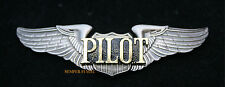 VINTAGE PILOT WING PIN PRIVATE SOLO SPORT FULL SIZE GIFT AIRPLANE JET HELICOPTER
