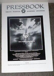 SUPERMAN THE MOVIE original 1978 pressbook CHRISTOPHER REEVE/MARGOT KIDDER