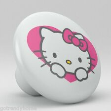 Cute Hello Kitty Heart Ceramic Knobs Pulls Kitchen Drawer Cabinet Vanity p111