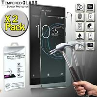 2 Pack Real Tempered Glass Screen Protector Cover For Sony Xperia L1