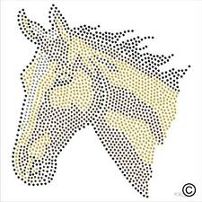 Horse Rhinestone Diamante Transfer Iron On Hotfix Gem Crystal Motif Patch Bling