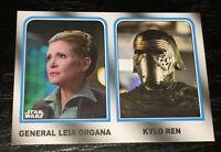 STAR WARS 2017 Topps Jedi ~ Kylo Ren Princess Leia ~ FAMILY LEGACY insert #4 F1