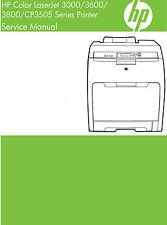 HP Color Laserjet 3000 / 3600 / 3800 / CP3505 Printer Service Manual