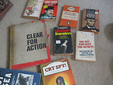 Vintage Lot of 9 Spy, Conspiracy, Political Books