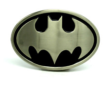 BATMAN DARK KNIGHT 3D BELT BUCKLE NICKLE BRUSHED SUPERHERO COMICS COSTUME
