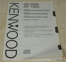 Kenwood DP-1050 / DP-2050 Bedienungsanleitung mehrsprachig (auch in Deutsch)